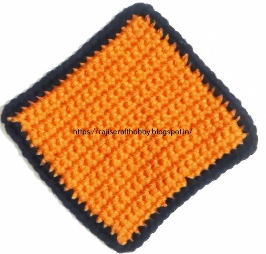 Single Crochet Square Coaster Crochet Creation By Rajiscrafthobby