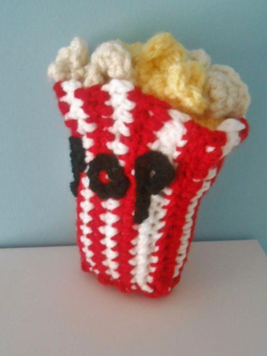 Crochet Popcorn Bucket