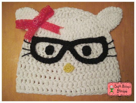 Hello Kitty Nerd Crochet Hat