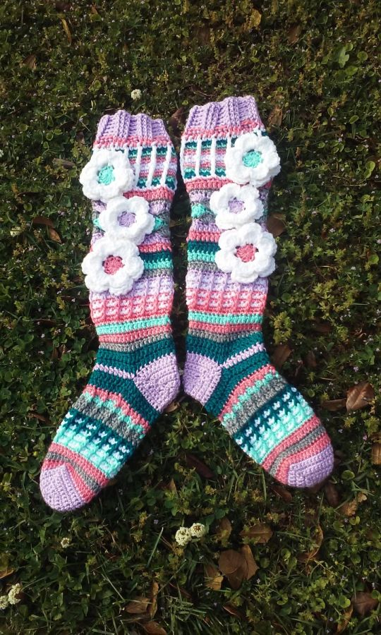 Free Spirit Slipper Socks Custom Colors