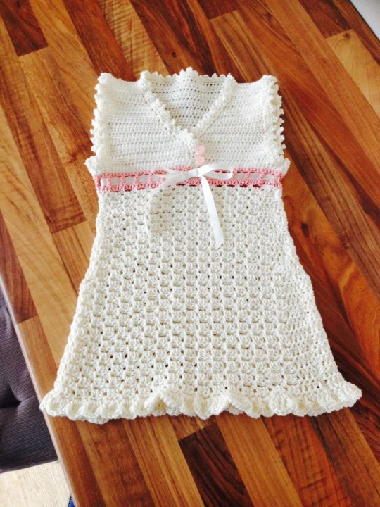 Vintage crocheted dress for a 2yr old.