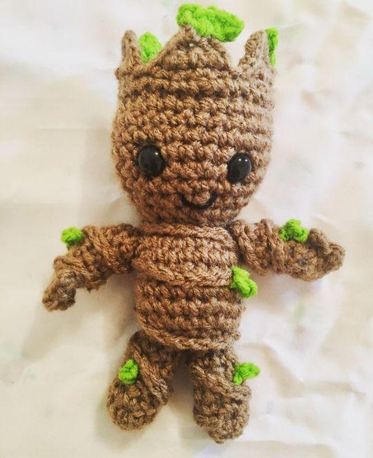 Handmade Crochet Groot Amigurumi