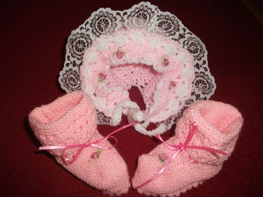 Crochet Hat and Boots