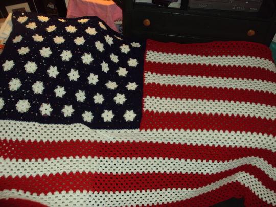 Grand old flag blanket