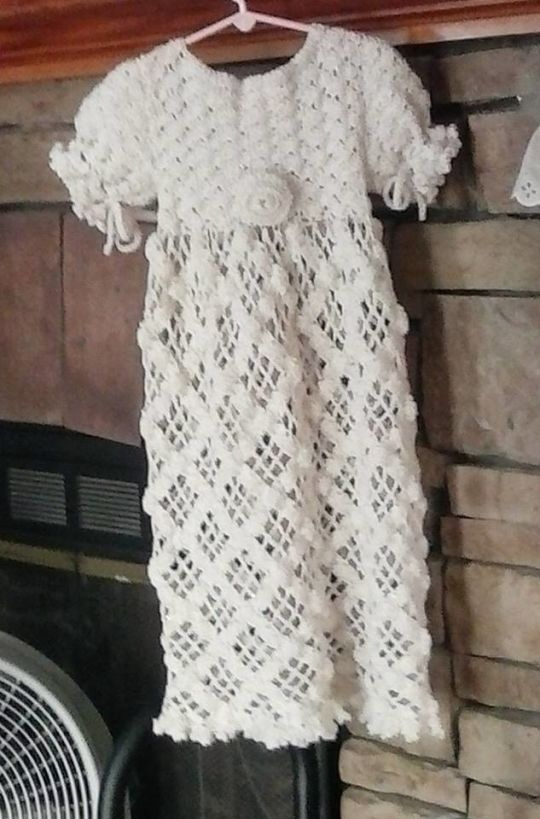 My first baby christening/baptism outfit