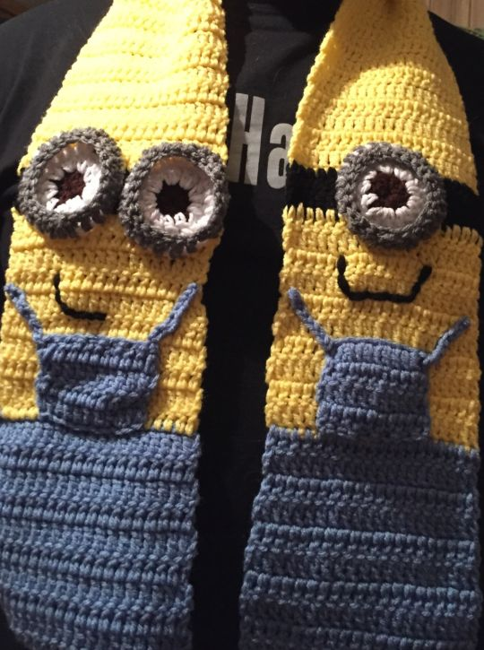 Minion Scarf Crochet Creation By Susan Isaac Crochetmunity