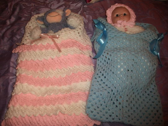 Knitted and Crocheted Baby Nest - Crochet creation by ...