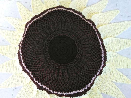 Lemon Queen Sunflower Beanbag and Rug Pattern