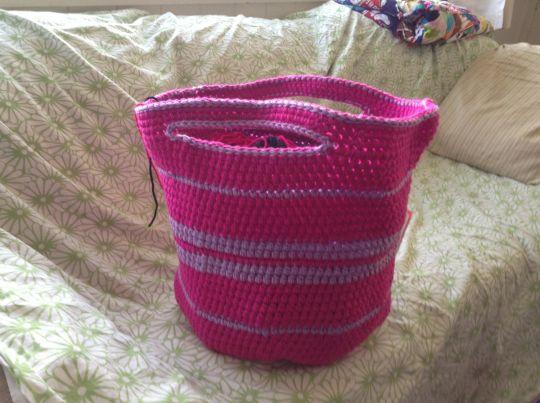 Crochet basket stash buster
