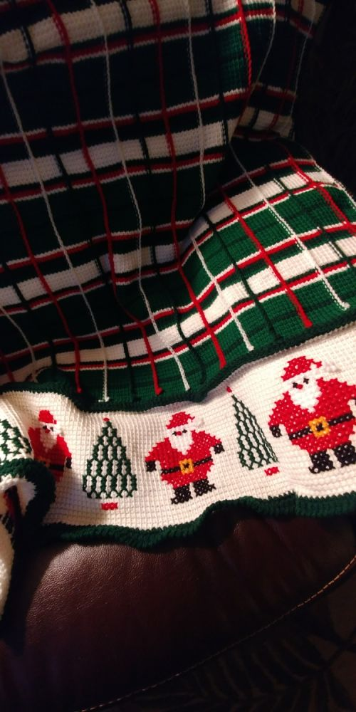 Santa Plaid Afghan