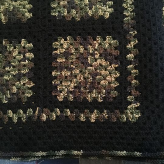Camouflage Granny Square Afghan