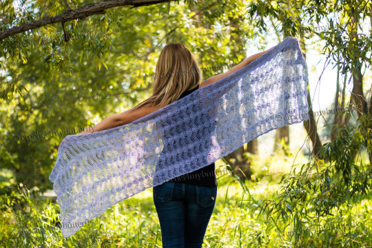 Silk Cloud Waves Shawl