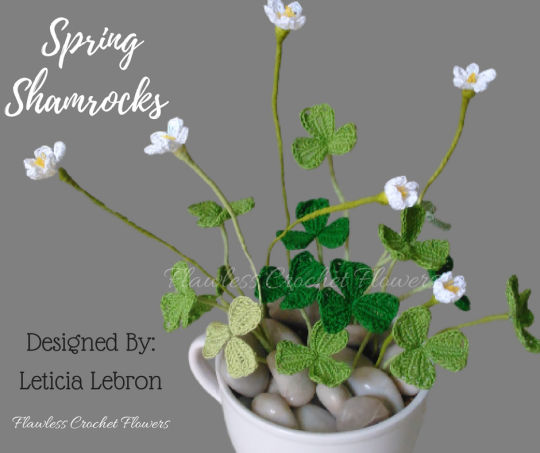 Crochet Spring Shamrocks