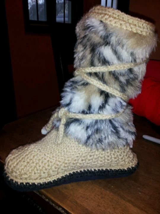 Crochet and Knit boots