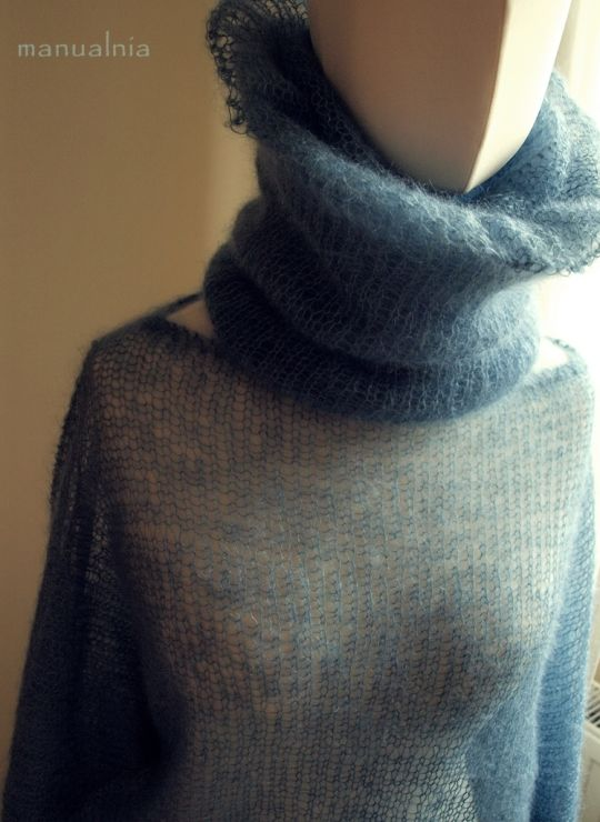 Feather Bat and neck warmer