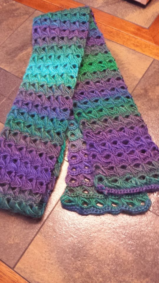 Broomstick Lace Scarf Crochet Creation By Meme Crochetmunity