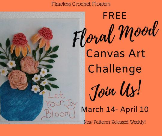 3-D Floral Mood Canvas Art