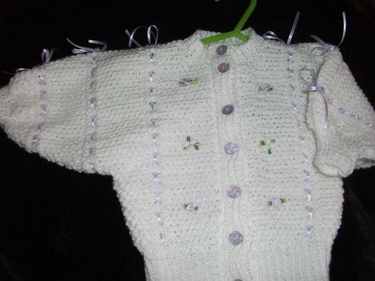 Ribbon and Bows Baby Cardi