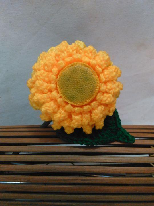 Teddy Bear Sunflower Crochet Pattern