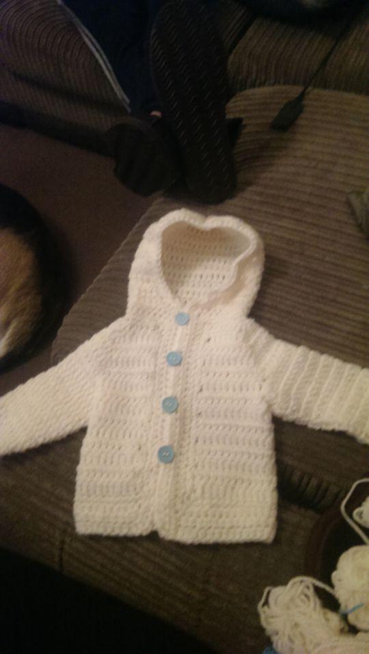 wee hoodie baby cardigan