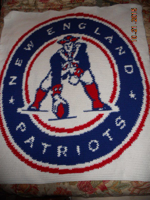 New England Patriots Crochet Creation By Charlotte Huffman