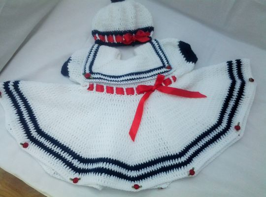 Sailor dress and matching beret