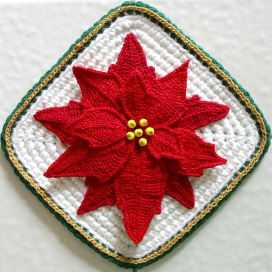 Poinsettia Pot Holder