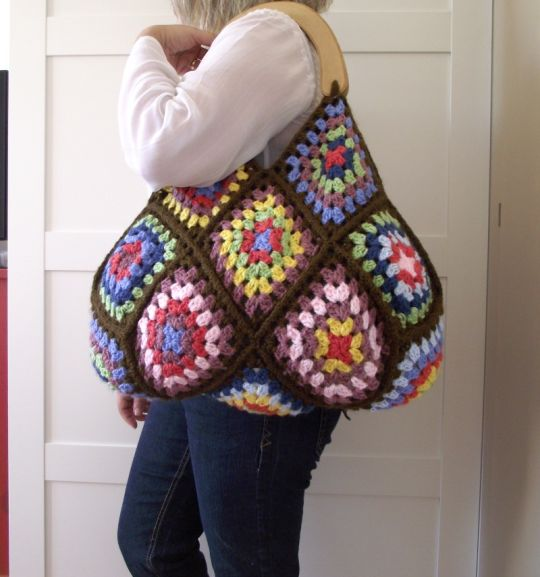Perfect Crochet Bag for Fall - Martha Bag - Grannys and Colors!