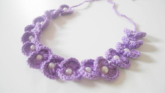 scallop bead headband
