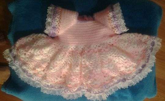 baby lace trimmed dress