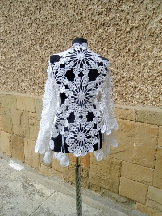 Wedding Shawl, Bridal White Shawl, Lace Bridesmaid Fashion, Crochet Wedding Cape