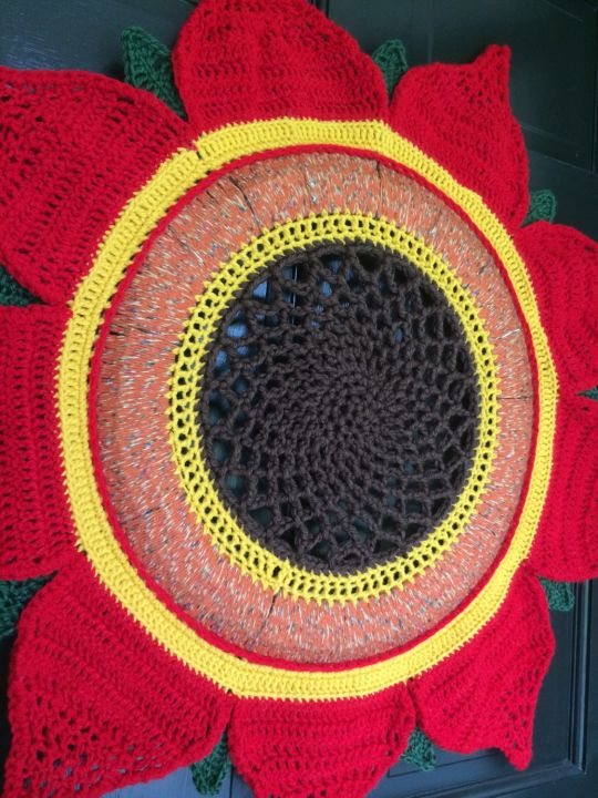 Red Sunflower Wreath