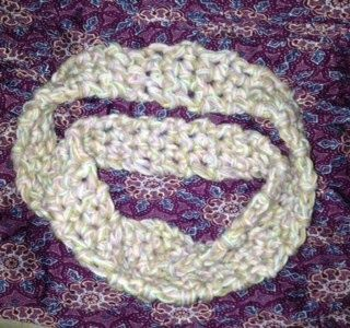 Finished my crochet infinity scarf for New Years!