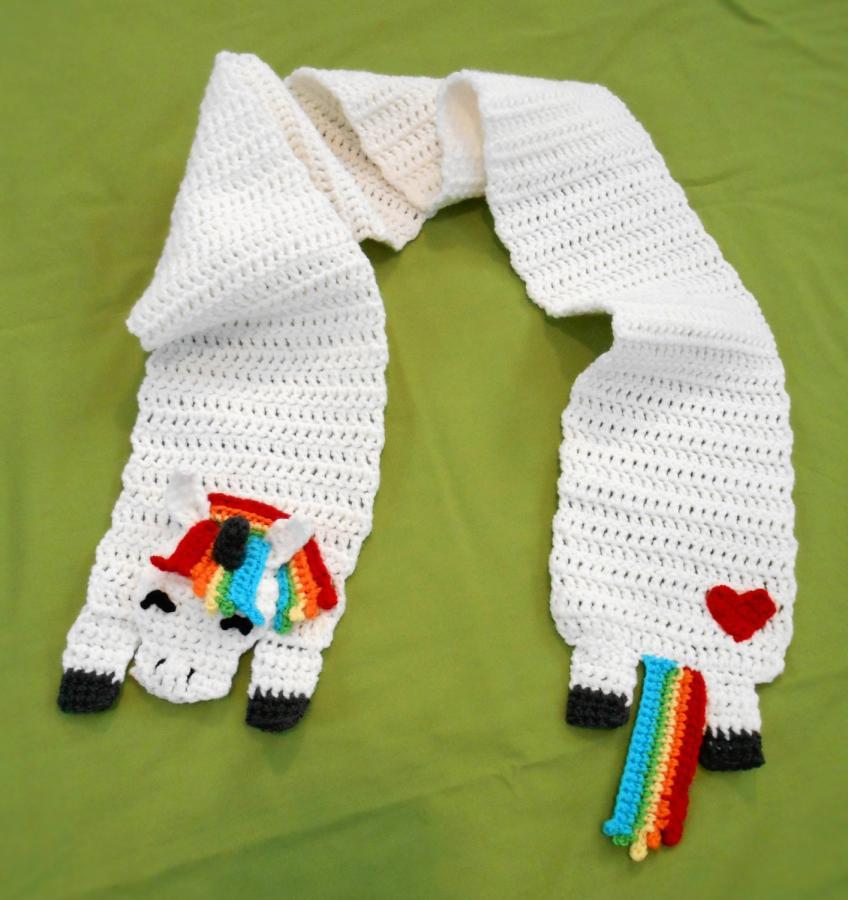 Rainbow Unicorn Scarf - Crochet creation by CharleeAnn - Crochet ...