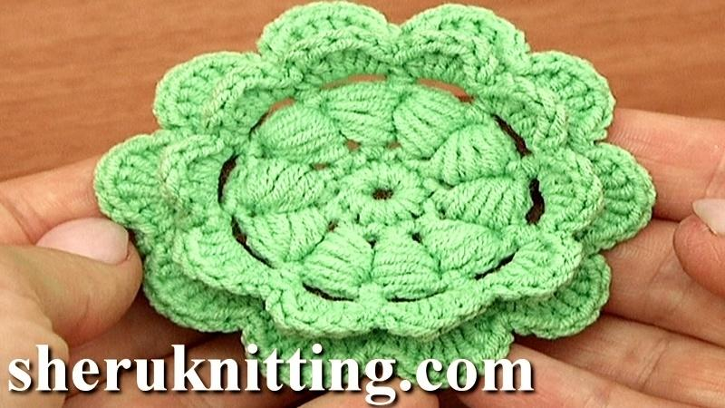 CROCHET PUFF STITCH FLOWER - Crochet creation by S - Crochet.Community