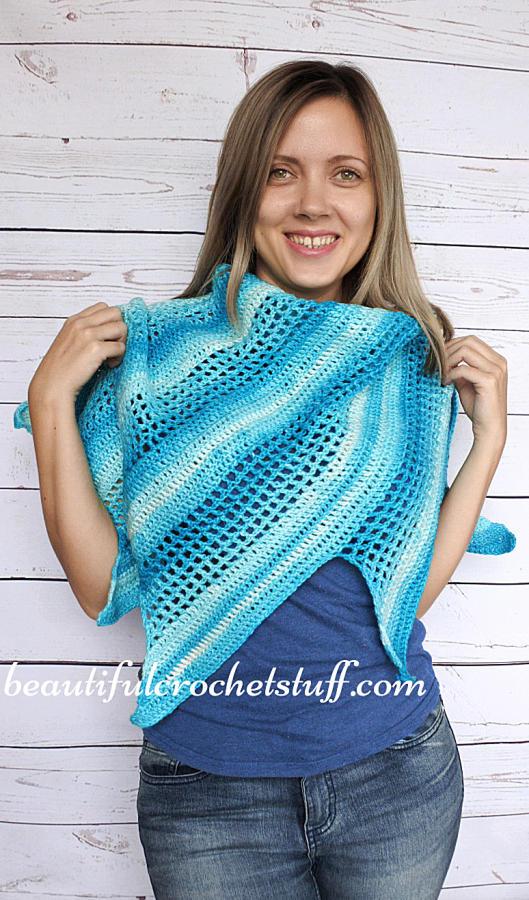 Crochet Baktus Scarf Free Pattern Crochet Creation By Janegreen