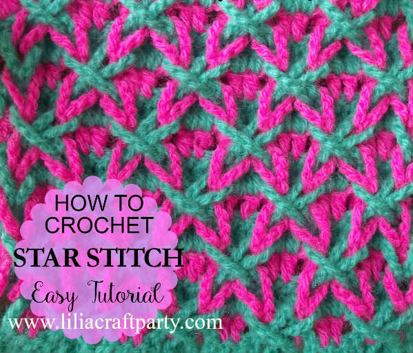 How To Crochet Star Stitch Easy Tutorial Crochet Creation By