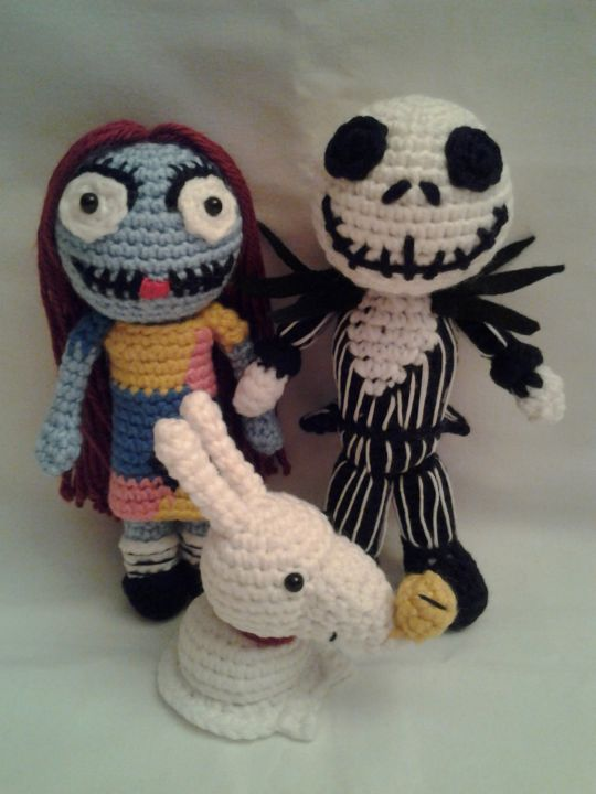 Crochet Patterns Nightmare Before Christmas : Nightmare Before Christmas - Jack, Sally, Zero