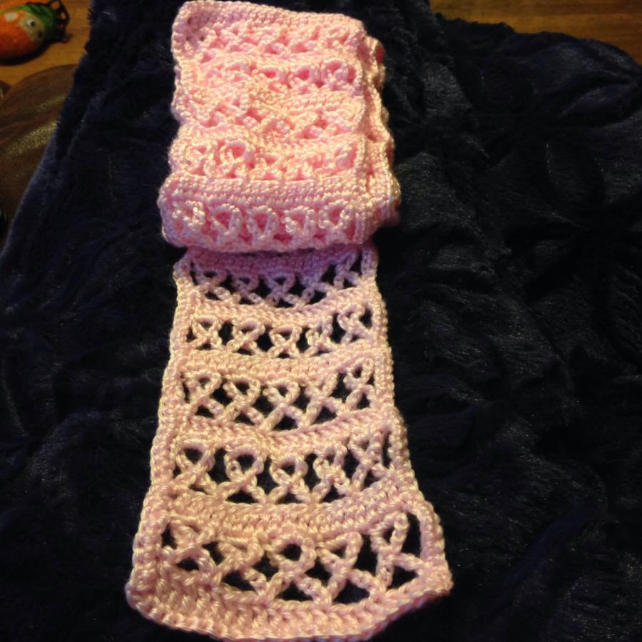 Free Crochet Pattern For Cancer Scarf : Breast Cancer Scarf - Crochet creation by FashionBomb ...
