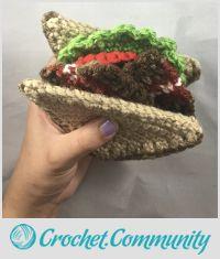 Handmade Crochet BLT Sandwich