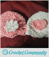 Baby girl hats to go with baby girl set #2