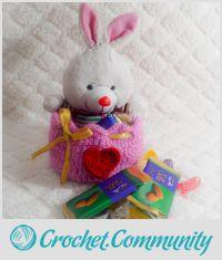 Crochet Heart Gift Basket