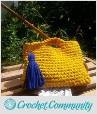 Yellow Bag, Crochet Bag, Summer Bag, Cotton Bag, Handmade Bag, Women Bag, Handmade Bag