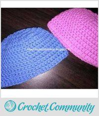 Simple Crochet Beanie Cap for Newborn