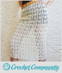 Pineapple Crochet Skirt Free Pattern