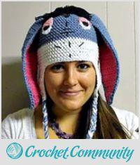 Eeyore inspired crocheted Hat