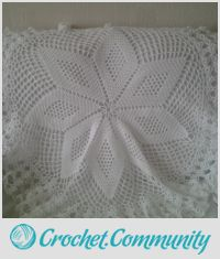 Star design circular  heirloom baby shawl