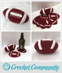Football Coaster Set - American
