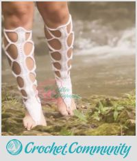 Barefoot Lace-Up Gladiator Sandals!!! My own design :)