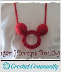 Crochet Mickey Necklace